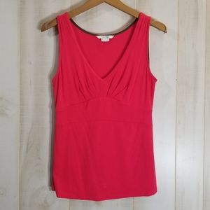 Boden Pink V neck fitted Sleeveless Top Size 6
